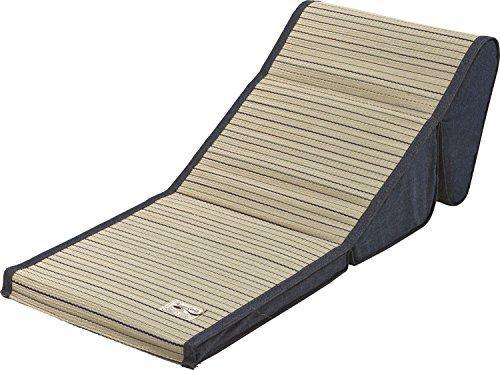 大島屋 座椅子 い草 デニム TV枕 ブルー 約42×88×29cm