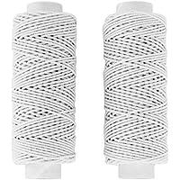 サンアミカ ゴムカタン糸 20m巻×2個 白 SAN176