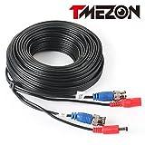 TMEZON CCTV防犯カメラ用 BNC端子 映像/電源一体型 延長ケーブル30M