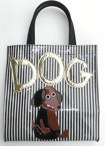 日本製 ミニトートバッグ かわいい レディース ランチトート 犬 お散歩バッグ 犬柄 ダックスフンド グッズ 雑貨