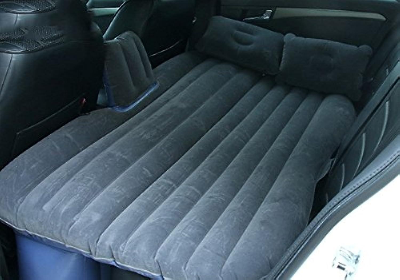 車のインフレータブルマットレスエアマットレス車のショックベッドピクニックベッド旅行のインフレータブルベッド背部シートマットレスユニバーサル車のクッションキャンプエアベッド ( 色 : ブラック )
