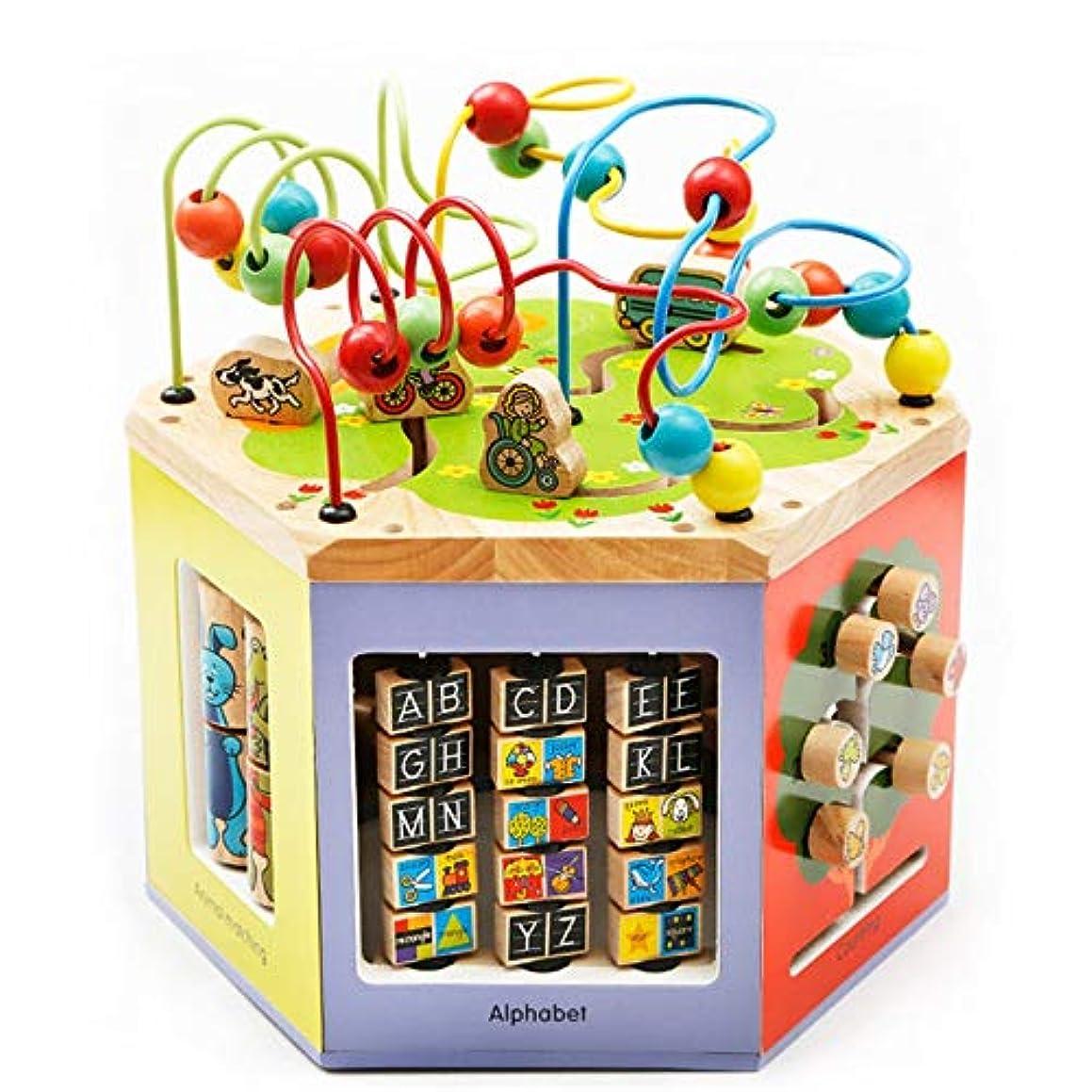 要旨地獄池木製アクティビティキューブ 赤ちゃんの活動キューブ玩具プレイセンター木製ビーズ迷路動物の形ソーター学習発達おもちゃフリーサイズ アクティビティキューブおもちゃ (Color : Multi-colored, Size : Free size)