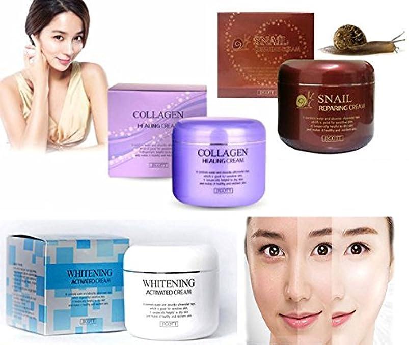 裏切り者ピアノ苦行[JIGOTT] スネイル&コラーゲンヒーリング&ホワイトニング活性化クリーム100g/Snail & Collagen Healing & Whitening Activated Cream 100g/韓国化粧品/Korean...
