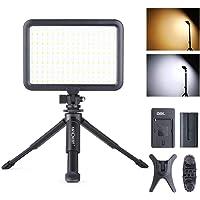 K&F Concept ビデオライト204個 LED 撮影ライト 照明ライト 卓上 手持ちライト ミニ三脚スタンド マル…