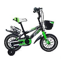 ZHIRONG 子供用自転車 グリーンオレンジ サイズ:12インチ、14インチ、16インチ、18インチ アウトドアアウト (色 : Green, サイズ さいず : 18 inch)