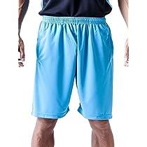 ティーシャツドットエスティー ハーフパンツ ドライ 無地 ポケット付き UVカット 4.4oz メンズ ターコイズ LL