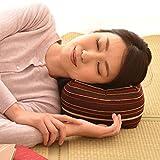 エムール 日本製 天然そばがら 正座クッション そばがら枕 中(22×22×13cm) 縞 こん