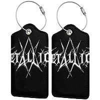 メタリカ Metallica 5 スター同型 バッグ用ネームタグ PU ネームタグ 紛失防止 レザー スーツケー 荷物タグ 出張スーツケース お名前/住所/電話番号/メッセージ ラゲージタグ スタンプ 旅行タグ 目立つ 個性 (一つ、二つ、四つ)