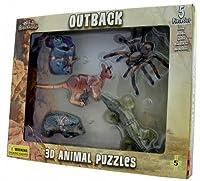 5動物Outback 3d動物SpiderカンガルーコアラAlligatorパズル