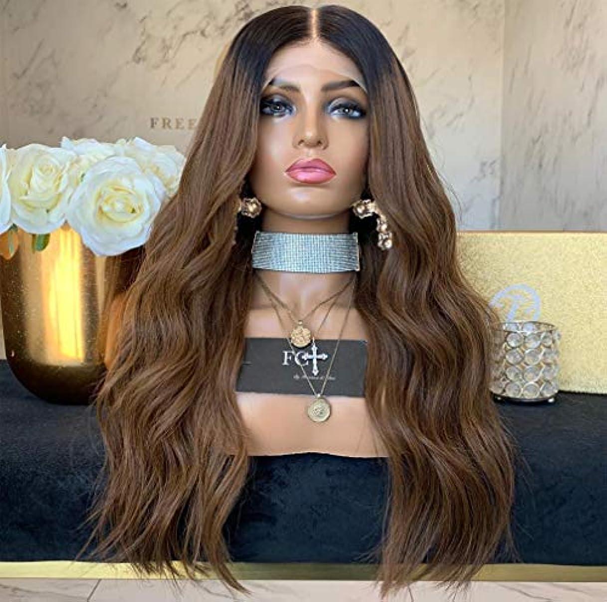 共和国甲虫ネイティブ女性かつら13 * 4レース前頭ディープカーリーウィッグ耐熱合成繊維人間の髪の毛をpreplucked 150%密度