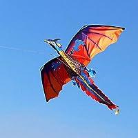 FidgetKute ナイロン製 大きな凧とドラゴン 子供用 3d Play ポータブルテール アウトドアファミリーおもちゃ