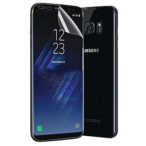 Meidu Samsung Galaxy S8 TPUソフトフィルムフルスクリーンカバレッジ防水ゼロ指紋フィルム(チュートリアルビデオと取扱説明書付き - 5.8インチ)
