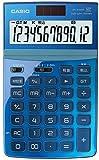 カシオ デザイン電卓 ジャストタイプ 12桁 JF-Z200BU-N ブルー