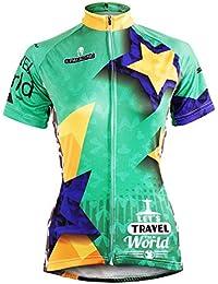 [ILPALADINO] #596 高品質サイクルウェア女性用 短袖 長袖 ycling clothes サイクリングジャージ コンプレッションウェア パワーストレッチ MTB レーサー