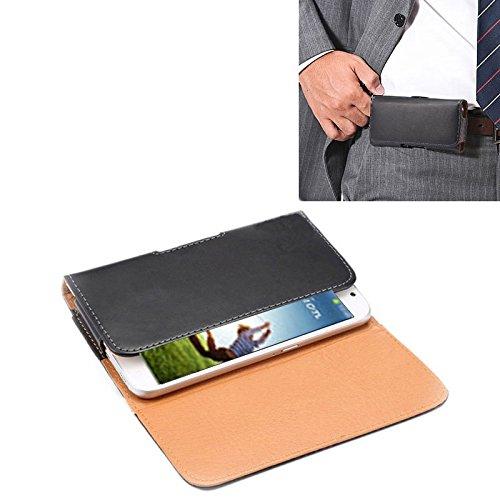 KMLPJP Samsung Galaxy S4 / i9500用バックスプリント付きクレイジーホーステクスチャ垂直フリップレザーケース/ウエストバッグ 用ケース カバー