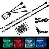 ALOTOA PCケース用RGBテープライト 12v、自作PCケース/ミドルタワー/サイドパネルPCケースなどに適用マグネット固定LEDテープ、RGB色とモードを切替リモコン付 (防水仕様)