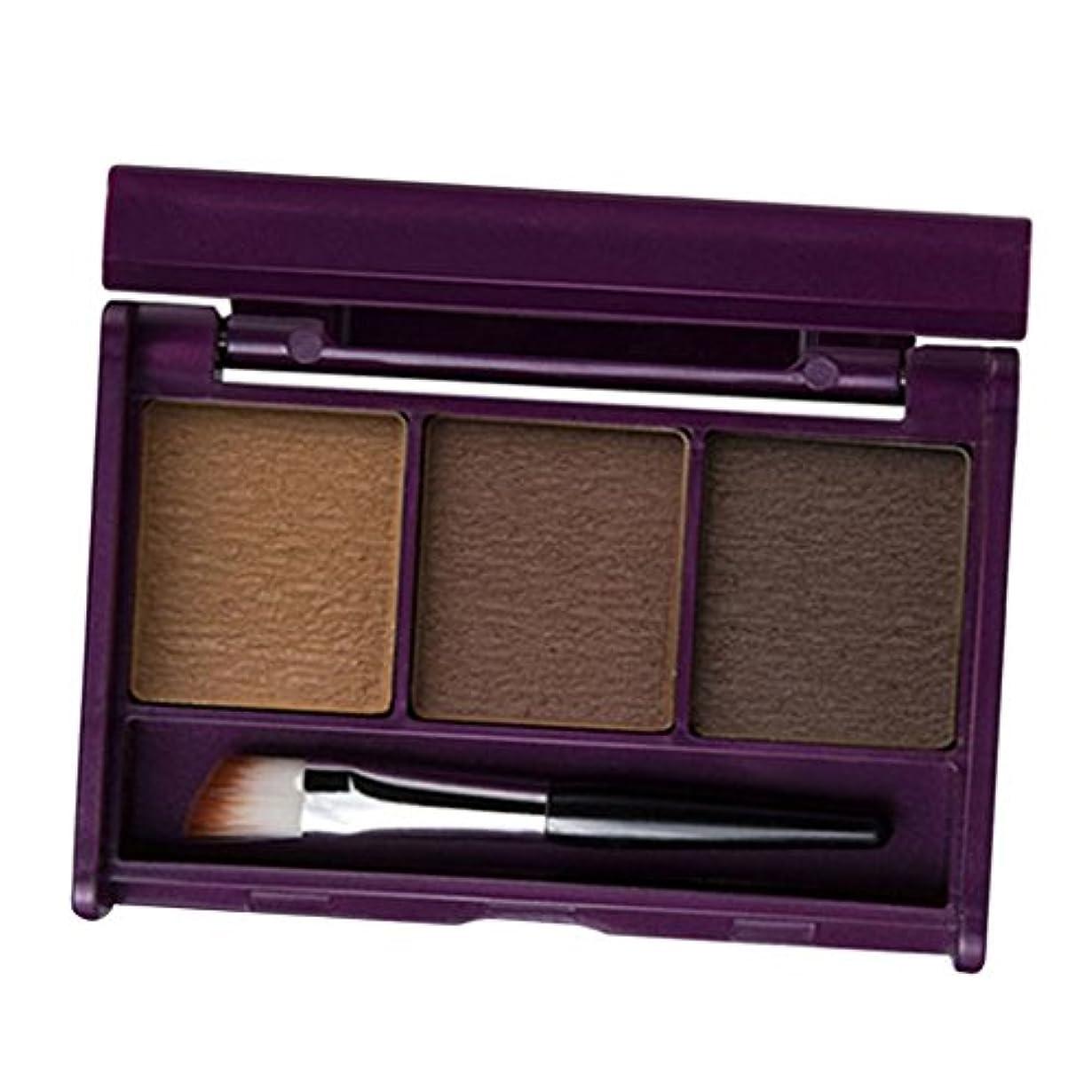Sharplace アイブローパウダー 眉毛 ブラシ付き メイクパレット 自然 防水 長持ち 3色選べる - 02