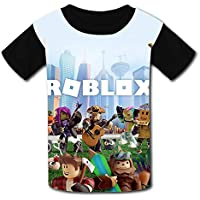 QIANBAIHUI Kids Youth R-ob-lox-World 3D Printed O-Neck T-Shirt Tees