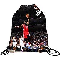 James Harden JerseyバスケットボールDrawstringバックパック✓プレミアムUnique巾着バッグ✓ Perfect Gift for Houston James Hardenバスケットボールファン