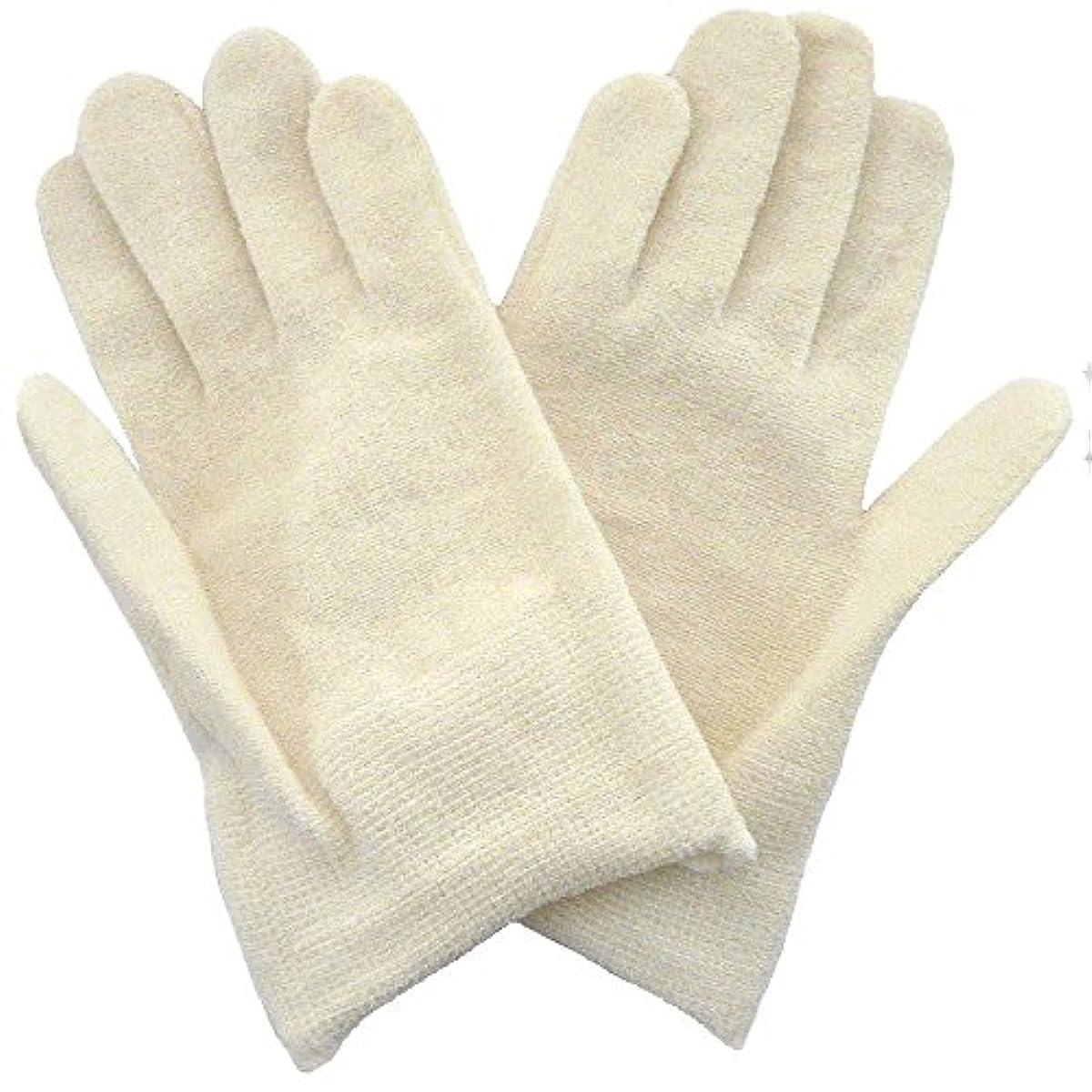 悪化する中庭式【アトピー】【水疱瘡】【皮膚炎】 ナノミックス おやすみ手袋:キッズ用 アイボリー