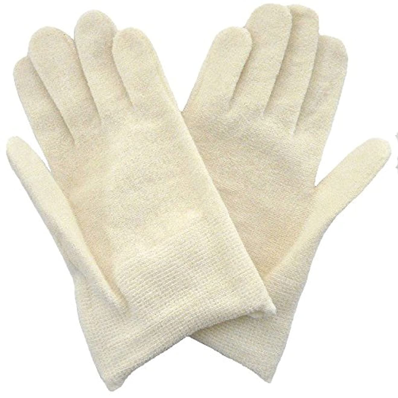 独特の種類錆び【アトピー】【水疱瘡】【皮膚炎】 ナノミックス おやすみ手袋:キッズ用 アイボリー