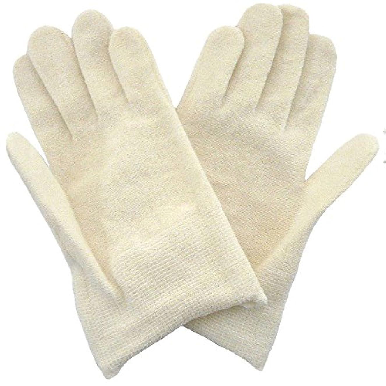 【アトピー】【水疱瘡】【皮膚炎】 ナノミックス おやすみ手袋:キッズ用 アイボリー