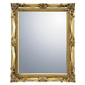 ユーパワー ミラー・鏡 ゴールド W34.5×H42.5×D4cm