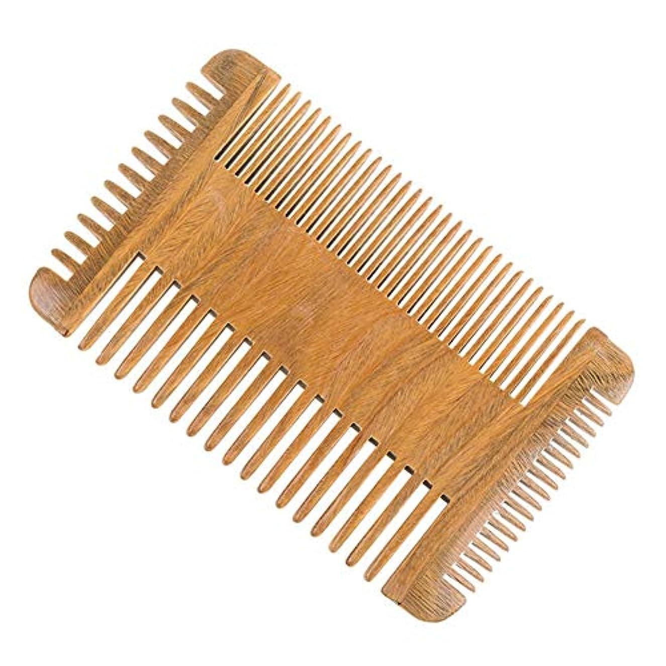ことわざモットー市場Guomao グリーンタンハードミュートコームトーンコームひげの歯トゥースコーム
