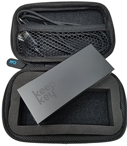 CW Carrying Case with Zipper for Trezor 元帳Nano S BitcoinハードウェアWallets、安全に保存Your Cryptocurrency Wallets、損傷から安全 Keepkey Case ブラック KeepkeyCase