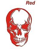 大ブレイクのドクロステッカー スカル ガイコツ 赤 カッティングステッカー ウォールステッカー