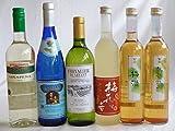 ファミリーグッドチョイス6本 高品質3ヵ国白ワイン(ドイツ フランス チリ750ml)3本セットと変り種リキュール500ml(牛乳 梅酒 生姜梅)飲み比べ6本セット