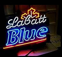 """Labatt Blueネオンサイン17"""" x14""""インチ明るいネオンライトのストアBeer Bar Pubガレージ部屋"""