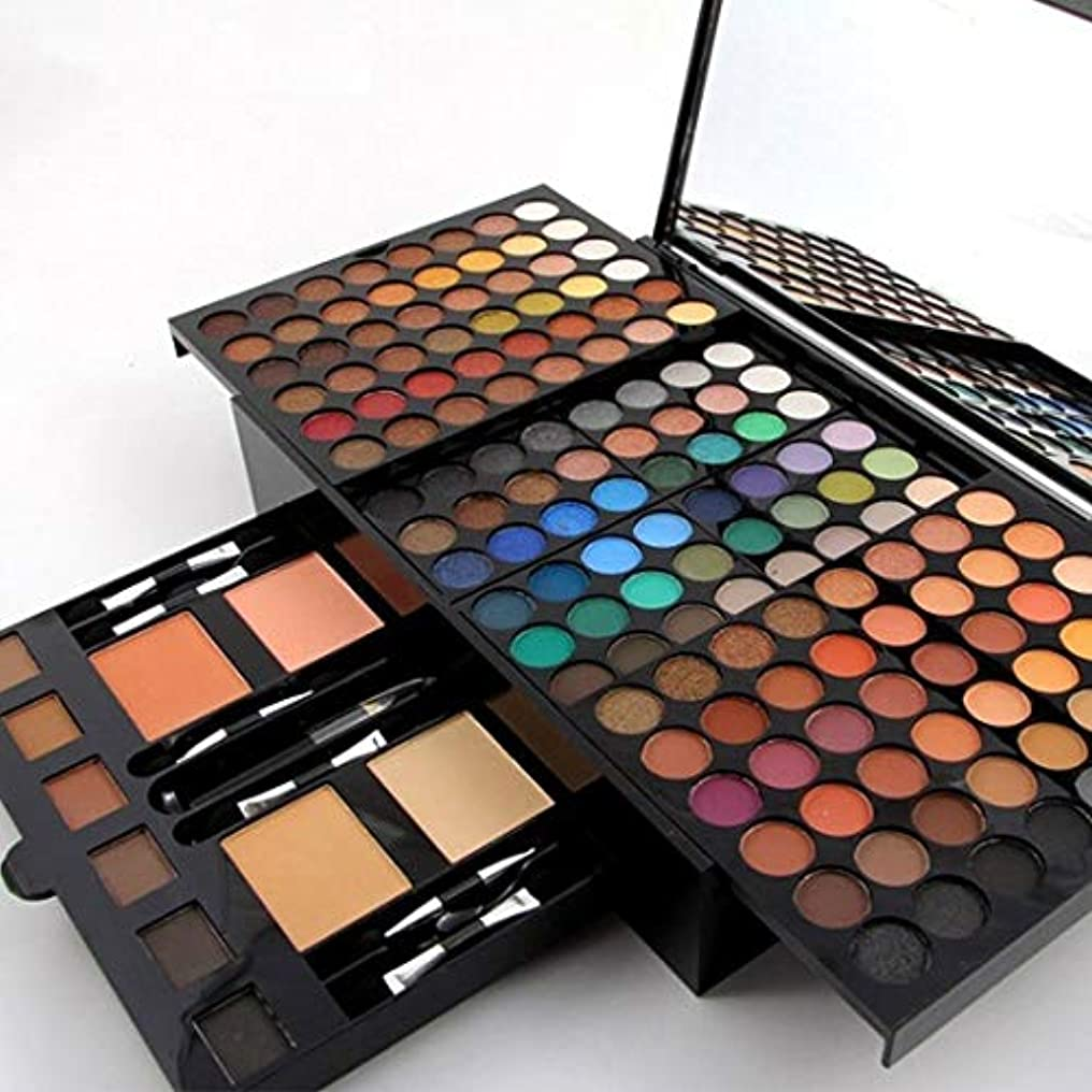 書き出すオークランドエンジニアMISS ROSE 180 Colors Professional Eyeshadow Palette Makeup Set with Makeup Brushes Mirror Shrink Matte & Shimmer...