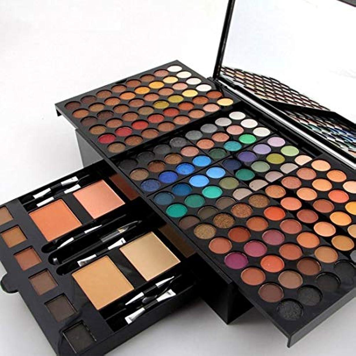 衰えるシーサイド鯨MISS ROSE 180 Colors Professional Eyeshadow Palette Makeup Set with Makeup Brushes Mirror Shrink Matte & Shimmer...