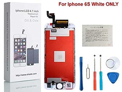 CW iPhone 6s 3Dタッチスクリーン修理交換用フロントパネル(フロントガラスデジタイザ)修理交換用高品質LCD 液晶パネルセット  修理工具付属  ホワイト