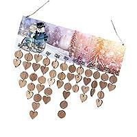 Kesoto カレンダーボード 木製 壁掛け ハート型 ペンダント デコレーション 誕生日プランナーカレンダーボード 家庭用装飾 6タイプ選べ  - #6