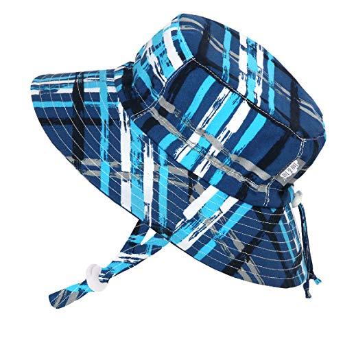 Design Inc. 赤ちゃん幼児用子供用50?+ UPFバケットSun Hat with Chinストラップ、サイズ調節可能Aqua Dry カラー: ブルー