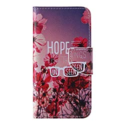 iPhone 6   iPhone 6S ケース [強化ガラスフィルムを無料で贈ります], OMATENTI Apple iPhone 6 6S 高級PUレザー ケース 手帳型 保護ケース カード収納ホルダー付き 横置きスタンド機能付き マグネット式 スマホケース (P1, レッド)