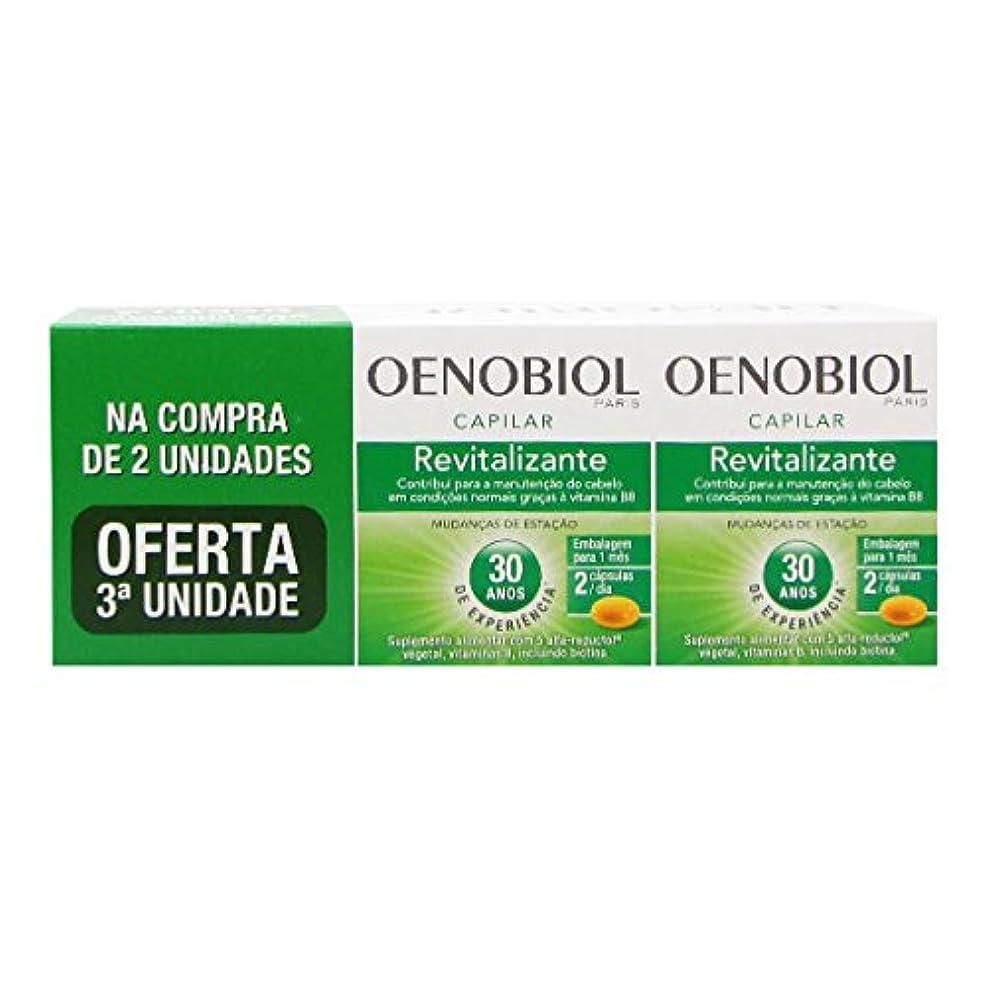 地上のリットル靴下Oenobiol Revitalizante Capilar Pack 3x60caps [並行輸入品]