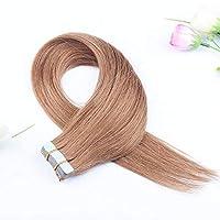 FidgetGear Remyの人間の毛髪延長7A 40cmの継ぎ目が無いPUの皮のよこ糸の方法16インチテープ #10ミディアムゴールデンブラウン