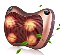 (エスディアイ)マッサージ器 首マッサージャー マッサージクッション ヒーター付き ストレス解消 家庭用 職場用 車用 温熱療法 (1)