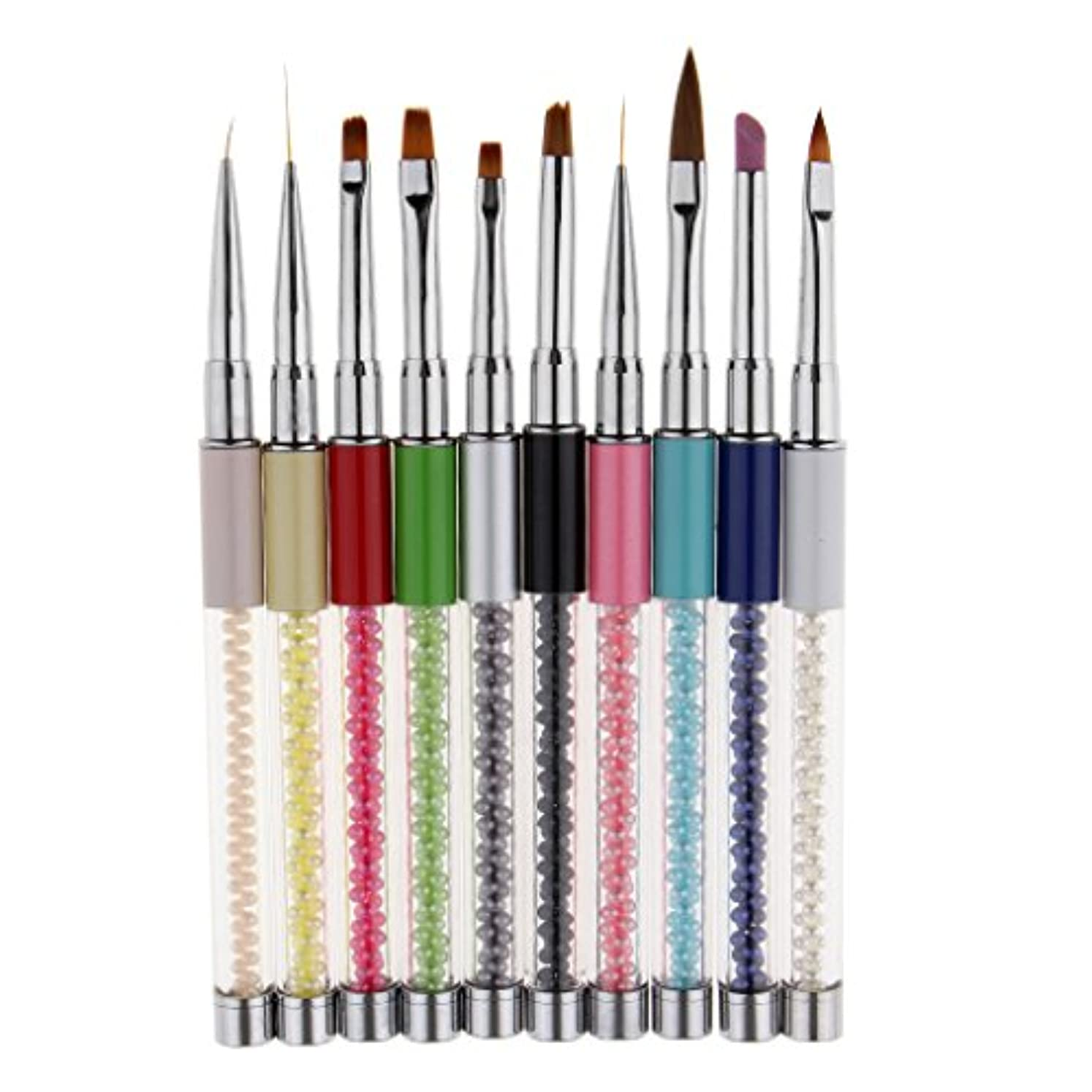 スプリット困った勝利したネイルアート ネイルブラシ 絵画ブラシ 点描ブラシ 点描ライナーペン ネイルデザイン 10本セット