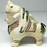 【TORITO DE PUCARA】トロ・デ・プカラ 家のお守り神 プカラ牛(白)ホワイト系 ペルー製 民芸品