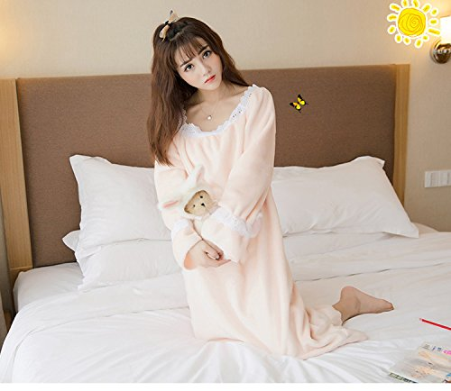 4085f2a9f8 Kayaa Pajamas for women cute negligee Long Room dress princess system warm  long-sleeved casual dressing gown sleepwear soft nightwear fashionable  pajamas ...
