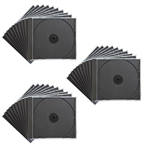 サンワサプライ CD・DVD・BDケース 1枚収納×30枚セット 厚さ10mm ブラック FCD-PN30BK