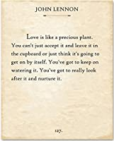 John Lennon - Love is Like. - 11x14 Unframed Typography Book Page Print - Great Gift for Music Lovers [並行輸入品]