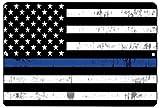 Blue Lives Matter Flag Metal Tin Sign Wall Decor Man Cave Bar Police Officer Thin Blue Line Gift