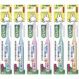 【Amazon.co.jp限定商品】(GUM)ガムデンタルブラシこども#87永久歯期用・ふつう 6本パック(数量限定)ソフトピック2P冊子付
