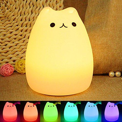 テーブルランプ ベッドサイドランプ LEDデスクライト 七色...