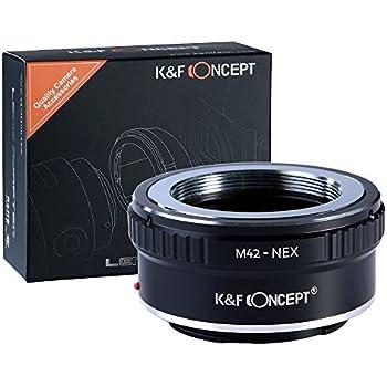[正規代理店]K&F M42 レンズ-SONY NEX Eマウントアダプター レンズクロス付 m42-nex (KFNEX)